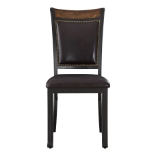 Powell Vinessa Side Chairs Rustic UmberDark