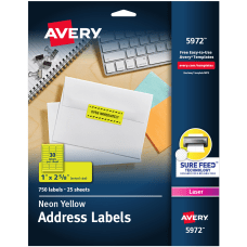 Avery High Visibility Permanent Laser ID