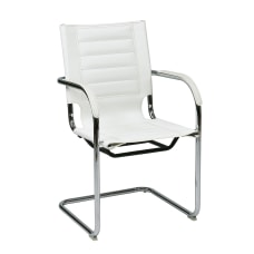 Ave Six Trinidad Guest Chair WhiteSilver