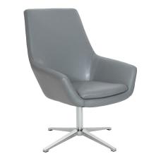 Office Star Tubby Chair Charcoal GrayAluminum