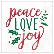 Amscan Christmas Peace Love Joy 2