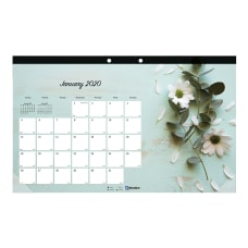Blueline Romantic Collection Monthly Desk Pad