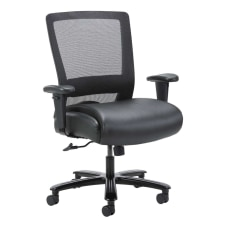 Boss Office Products LeatherPlusMesh Heavy Duty
