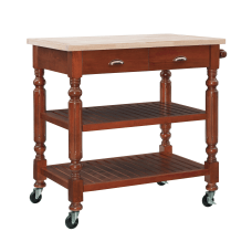 Linon Jolson 2 Shelf Kitchen Cart