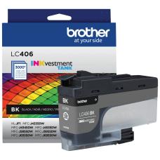 Brother INKvestment LC406BK Black Tank Ink