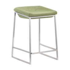 Zuo Modern Lids Counter Stools GreenBrushed