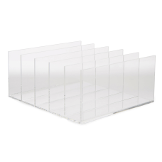 Mind Reader Acrylic 5 Compartment File