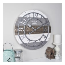 FirsTime Co Shabby Wood Wall Clock