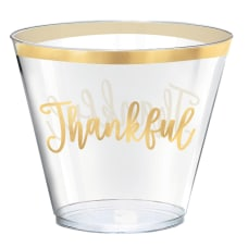 Amscan Thankful Thanksgiving Cups 9 Oz