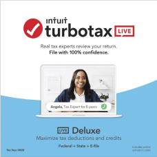 TurboTax LIVE Online Deluxe 2020 Federal