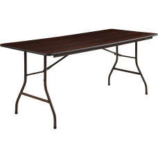 Lorell Laminate Economy Folding Table 6W