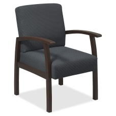 Lorell Wood Guest Chair Charcoal FabricEspresso