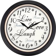Westclox Wall Clock BrownPlastic Case