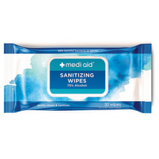 Mediaid 75percent Alcohol Sanitizing Wipes Pack