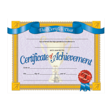 Hayes Publishing Certificates Of Achievement 8