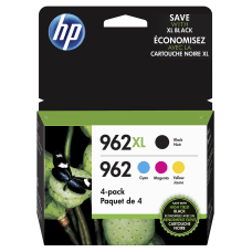 HP 962XL High Yield Black and