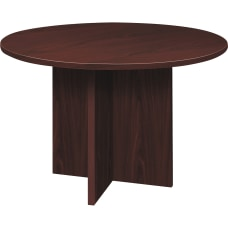 HON Foundation Round Conference Table Mahogany