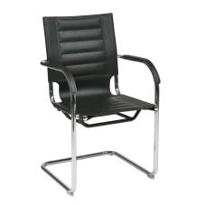 Ave Six Trinidad Guest Chair BlackSilver