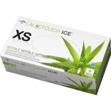 Medline AloeTouch Ice Nitrile Gloves X