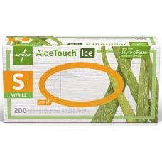 Medline AloeTouch Ice Nitrile Gloves Small