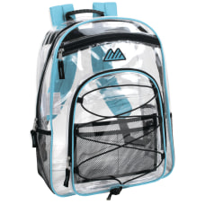 Trailmaker Water Resistant Clear Backpack Turquoise