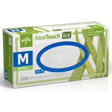 Medline AloeTouch Ice Nitrile Gloves Medium