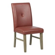 Powell Brenter Side Chair Driftwood GrayCranberry