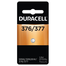 Duracell Silver Oxide 376377 Button Battery