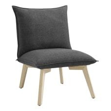 Linon Beck Pillow Chair GrayNatural