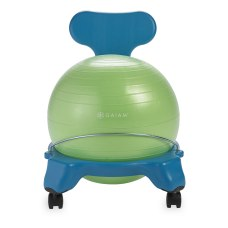 Gaiam Kids Balance Ball Chair BlueGreen