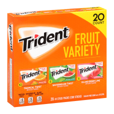 Trident Sugar Free Gum Fruit 14