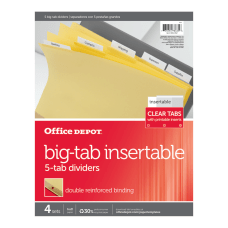 Office Depot Brand Insertable Dividers With