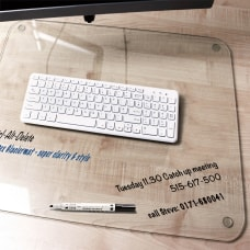 Desktex Glaciermat Glass Desk Pad 24