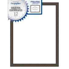 Geographics Foil Certificates 8 12 x