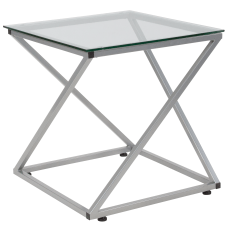 Flash Furniture Square Glass End Table