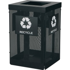 Safco Onyx Waste Receptacle Overlapping Lid