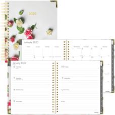 Blueline Romantic Roses Planner Julian Dates