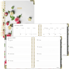 Rediform Romantic Roses WeeklyMonthly Planner Julian