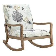 Powell Jacinda Accent Rocking Chair NaturalBlueBeige