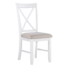 Powell Jacek Side Chairs WhiteLight Tan