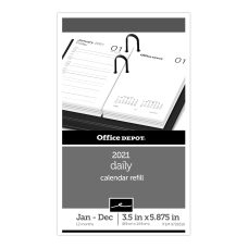 Office Depot Daily Desk Calendar Refill