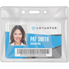 Advantus Vinyl ID Badge Holders Support