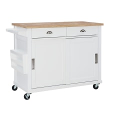 Linon Crowell 2 Drawer Kitchen Cart