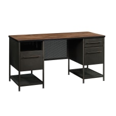 Sauder Boulevard Caf Executive Desk BlackVintage