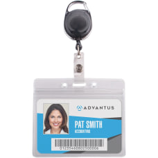 Advantus Badge Reel Holder Combo Pack