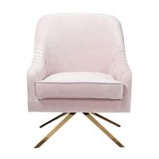 Baxton Studio Kira Velvet Lounge Chair