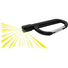 Advantus LED Light Carabiner Aluminum Black