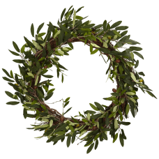 Nearly Natural Polyester Olive Wreath 20