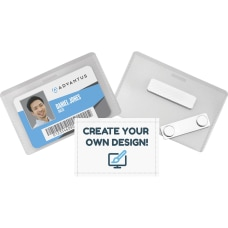 Advantus DIY Magnetic Name Badge Kit