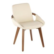 LumiSource Cosmo Chair WalnutCream